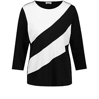 Gerry Weber T-Shirt 3/4 Arm, Black/Ecru/White Patch, 42 Woman
