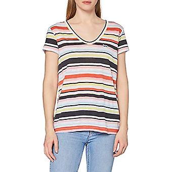 Lee Scoop Neck Tee T-Shirt, Mångfärgad (La Pink NL), S Donna