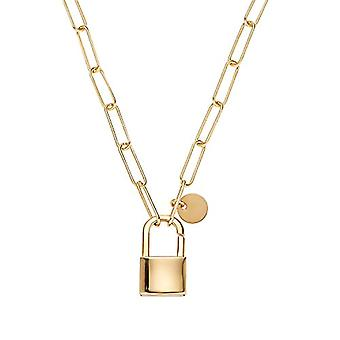 """OELANI Necklace with women's pendant in silver 925 gold plated 42 cm """"LOVE"""