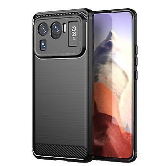 Tpu carbon fibre case for xiaomi 11 ultra black mfkj-57