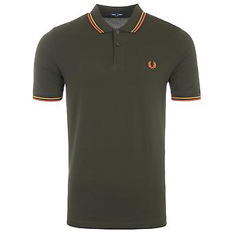 Fred Perry M3600 Twin Tipped Polo Shirt - Hunting Green