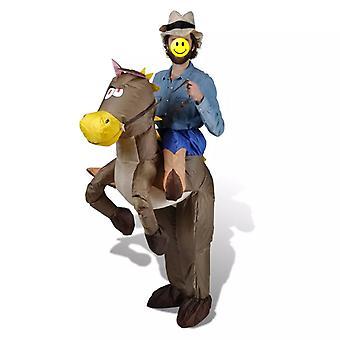 Cowboy & Horse puku puhallettava karnevaali puku karnevaali