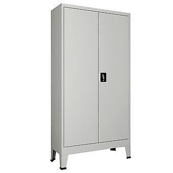 vidaXL kantoorkast met 2 deuren staal 90 x 40 x 180 cm grijs