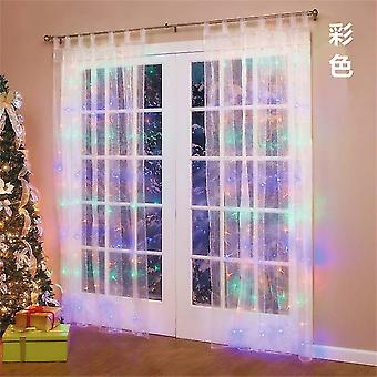 3*3M multicolor twinkle star led window curtain string light x4018