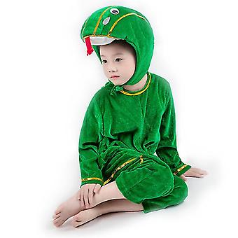 3Xl (160cm) green snake long cosplay suit costume stage clothes holiday clothes cai591
