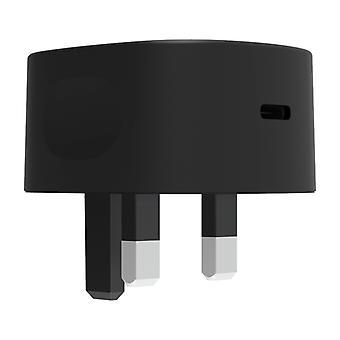 Griffin GP-020-BLK Enkelport 15W USB-C Nätladdare - Svart UK-kontakt