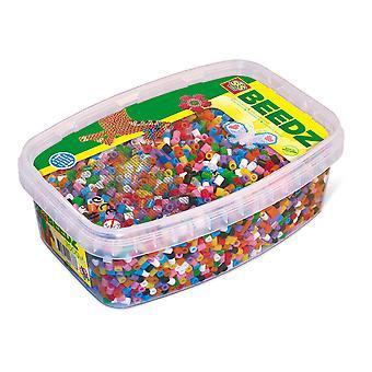 SES Creative - Children's Beedz Iron-on Beads Mosaic Box Tub (Multi-colour)
