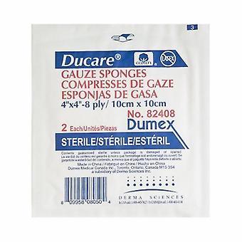 Derma Sciences Gauze Sponge Ducare Cotton 8-Ply 4 X 4 Inch Square Sterile, 50 Count