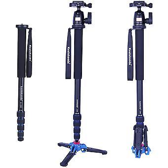 Wokex Kamera Aluminium Einbeinstativ mit Unterstützung Basis K-09 Kugelkopf für DSLR Kamera Canon Nikon. Ausgedehnt
