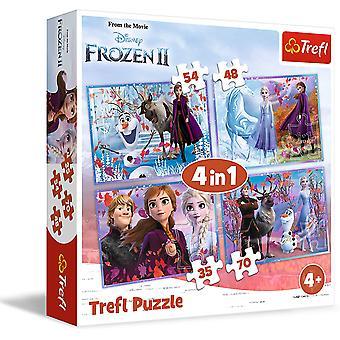Puzzle 4 in 1 Frozen 2 - 70 pezzi