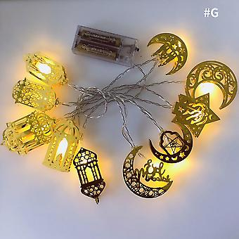 10LED Mond Stern Schloss Led Licht Saite Eid Mubarak Ramadan Dekoration für zu Hause Hajj Ramadan Kareem
