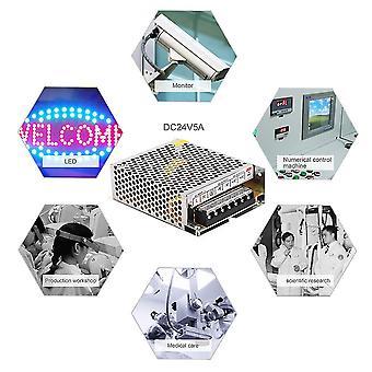 Alimentatore a led Interruttore Dc 24v 5a da 120w Ac100-240v per display a strisce led
