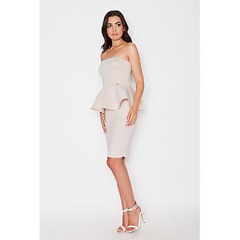 Beige katrus jurken v84307