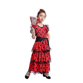 Spanish Flamenco Skirt Dancer Performance Costume(S)