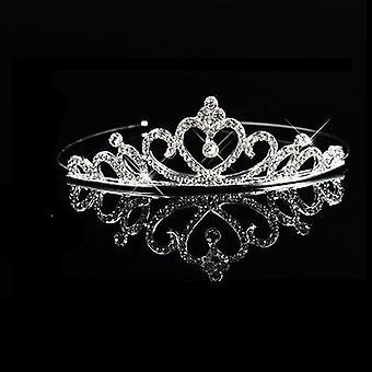 Prinsessa Häät Morsiusneito Tiara Crown, Hiuspanta, Hiustarvikkeet