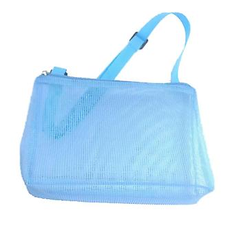 Kids Shell Collecting Bag Beach Sand Toy Totes(Blue)