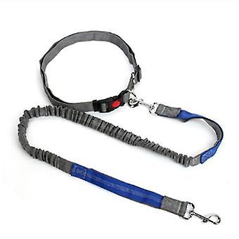 Trækkraft reb hund snor (rød og blå)