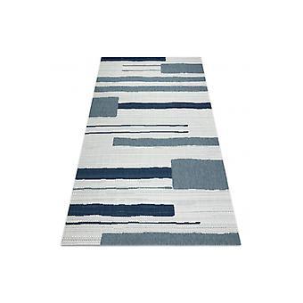 Vloerkleed KLEUR 19676369 SISAL lijnen beige / blauw