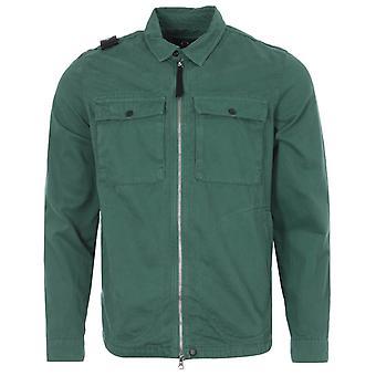 MA.Strum GD Zip Through Overshirt - Teal Green