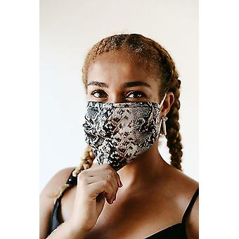 Maschera facciale in raso Indio
