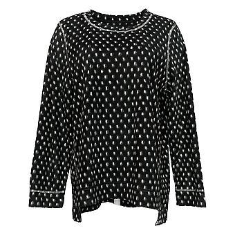 Soft & Cozy Women's Long Sleeve Pajama Top Black 662992