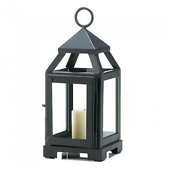 Galleri av lys moderne svart stearinlys lykt - 9 inches, pakke med 1