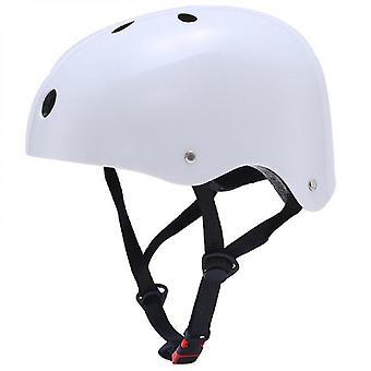 Skateboard Helm Schlagfestigkeit Belüftung Klettern Ski Sporthelm (Weiß)