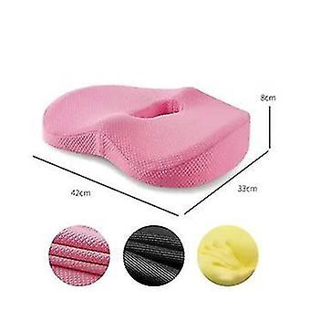 Cushion Office Seat Cushion 3d Air Layer Memory Foam Butt Pad(Pink)