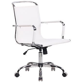 Chaise de bureau - Chaise de bureau - Bureau à domicile - Moderne - Blanc - Métal - 58 cm x 63 cm x 93 cm