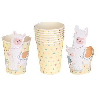 Llama Love - Paper Cups with Llama Wrap