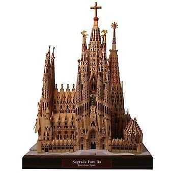 Interlocking blocks doki diy toys jigsaw sagrada familia model architecture adult puzzle game|model building kits