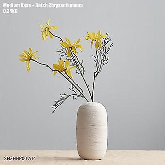 Keramikvaser i nordisk stil med blomkombinationer(kombination 5)
