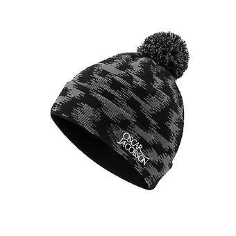 Oscar Jacobson Unisex Beanie Knit Bobble Hat Pom Pom Warm Winter Cap Accessory