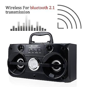 Ms-178bt Wireless Portable Bluetooth 15w Usb Interface Fm Radio Speaker