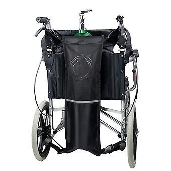 Mimigo Oxygen Cylinder Bag For Wheelchairs With Buckles, Fits Any Wheelchair, Black (fits Most Oxygen Cylinders)