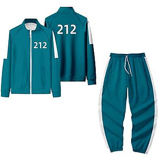 Squid Game Cosplay Costume Sweatshirts And Sweatpants 2 Piece Outfit