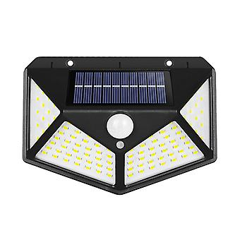 Rechargeable Solar Wall Light For Outdoor Courtyard (1 Piece, 100led Three Functions