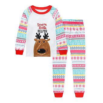 Pijamale de Crăciun Set pentru copii Xmas Pjs Moș Crăciun pijamale pijamale cu maneca lunga