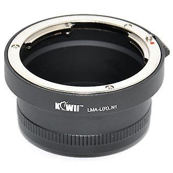 Adaptér na pripojenie objektívu kiwifotos: umožňuje 99% bajonetových objektívov Leica R (Pentax, Praktica, Mamiya, ZEISS a Zenit) na akomkoľvek fotoaparáte Nikon 1 Series (J1, J2, v1, v2)