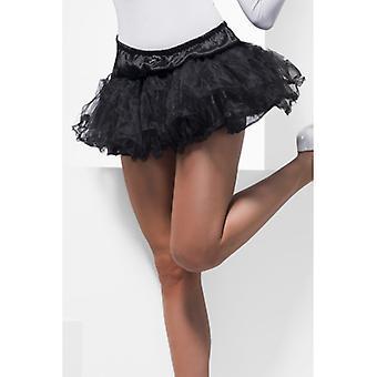 Tulle petticoat black ladies skirt