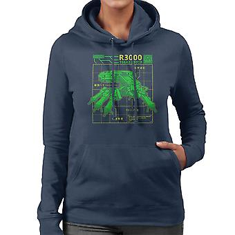 R3000 Robot Database Ghost In A Shell Women's Hooded Sweatshirt