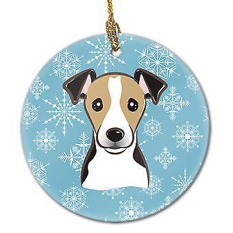 كارولين BB1695CO1 كنوز الثلج جاك راسل الكلب زخرفة السيراميك