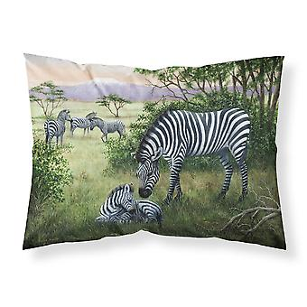 Zebras in the Field with Baby Fabric Standard Pillowcase