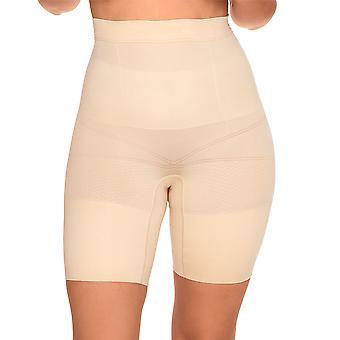 Sans Complexe 699153 Frauen Slimmers Haut Firma/Medium Control abnehmen Gestaltung hohe Taille langes Bein kurz