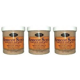 Eden Apricot Scrub For Face & Body 227g (3-Pack)