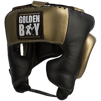 Title Boxing Golden Boy Training Headgear - Black/Gold
