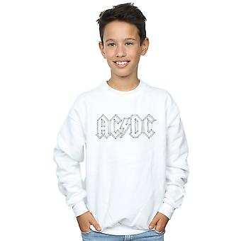 AC/DC Boys Black Outline Logo Sweatshirt