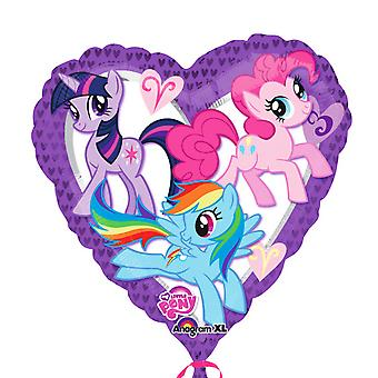 Anagram 18 Inch My Little Pony Heart Foil Balloon