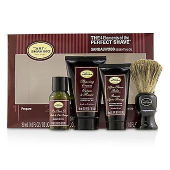 Kunsten å barbere de 4 elementene i den perfekte barbering mid-size Kit-sandeltre-4pcs