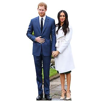 Prince Harry and Meghan Markle Mini Cardboard Cutout / Standee / Standup